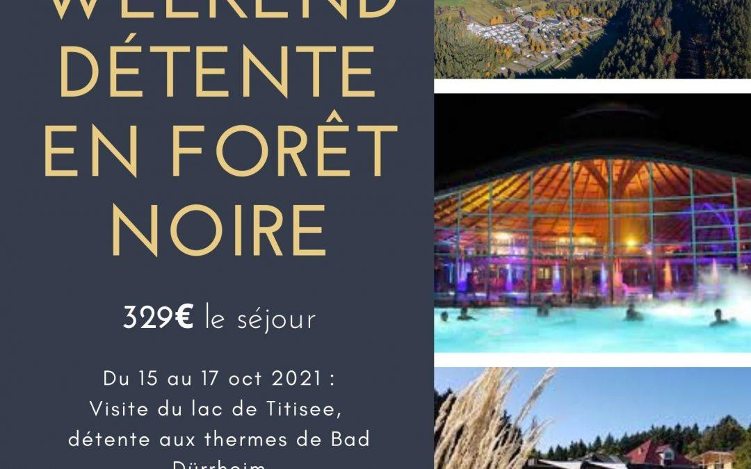 Weekend détente en Forêt Noire
